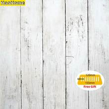 HaoHome-papel tapiz de pelar y pegar de madera, decoración autoadhesiva de contacto, película de vinilo para decoración del hogar