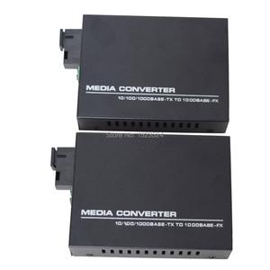 Image 2 - 1 Pair Gigabit Fiber Optical Media Converter 10/100/1000Mbps Single Mode Single Fiber