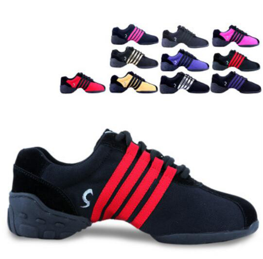 Jazz Dance Sport Shoes Lace-up Light And Soft Heel Increase Modern Dance Shoes Jazz Dance Shoes Sneakers For Women And Men