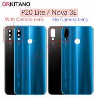 Funda trasera para Huawei P20 Lite, cristal de batería + lente de cámara NOVA 3E, carcasa de puerta trasera, Panel para Huawei P20 Lite