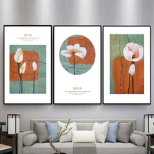 Nordic Refresh Lotus Flowers Posters And Prints Art Life Wall Art Canvas Paintings Pictures for Living Room Home Decoration