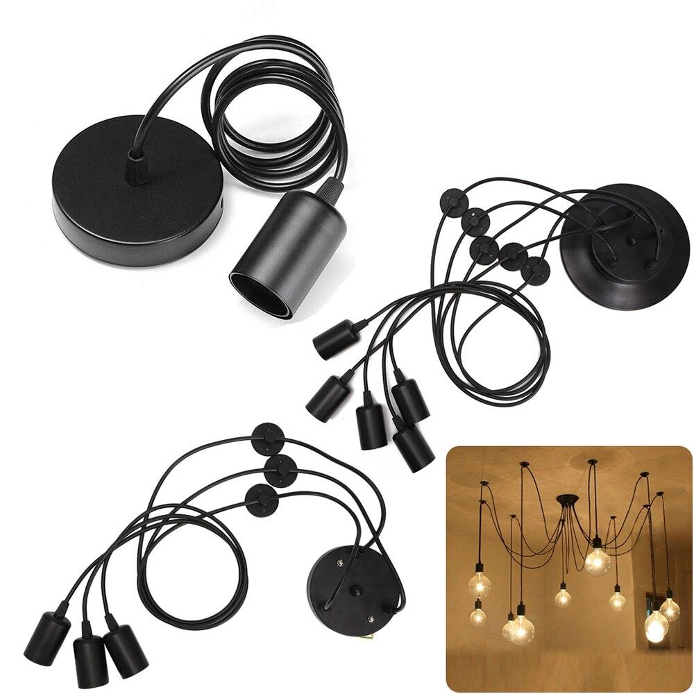 SUCHME Vintage Nordic Spider Pendant Lamp E27 Multiple Adjustable Retro Pendant Lights Master Bedrron Living Room Pendant Lamp