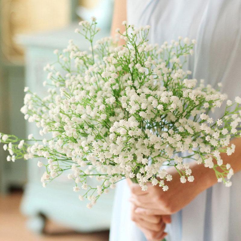 1/3/5pcs Artificial Baby's Breath Flower Gypsophila DIY Floral Bouquets Arrangement Wedding Party Home Decoration Fake Flowers