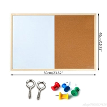 Boards-Combination Marker-Board Bulletin Message Drawing Magnetic 20 Wood-Frame O02