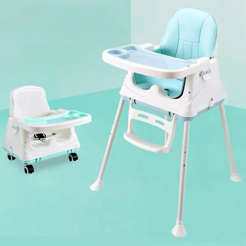 Hot Sale Cushion Booster 3 In 1 Foldable Portable Plastic Dining Baby Feeding High Chair