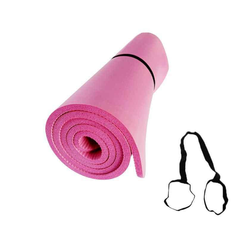 Yoga Mat THICK GYM YOGA MAT FITNESS PILATES Exercise GYMNASTICS CARRIER STRAP