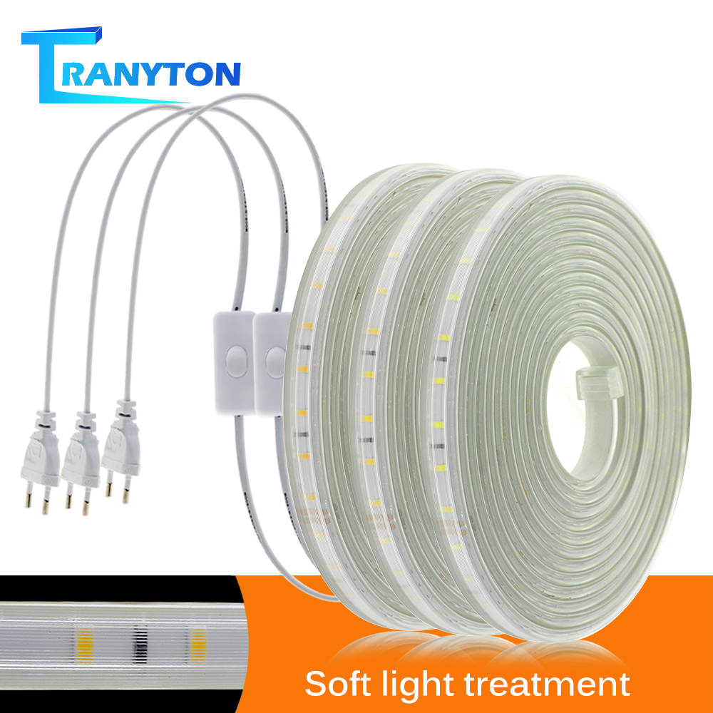 Soft Flexible LED Lights 220V Not Dazzling LED Strip 1M-10M Waterproof Lighting Tape White/Neutral White/Warm White