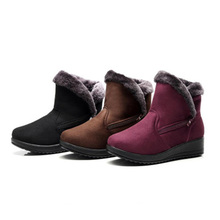 Women's Boots Snow boots ladies winter warm boots fashion women comfortable casual shoes cotton Round Toe flat heel side zipper women genuine leather side zipper comfortable square heel knee high boots fashion round toe keep warm winter shoes b
