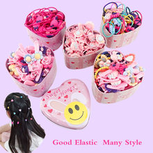 1box New Women Girls Colorful Basic Elastic Hair Rubber Bands Accessories for Kids Tie Hair Ring Rope Holder Headdress clips(China)