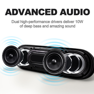 Image 2 - NBY 4070 Portable Bluetooth Speaker 10W Wireless Speakers with Subwoofer Support TF USB FM Radio for Laptop Computer
