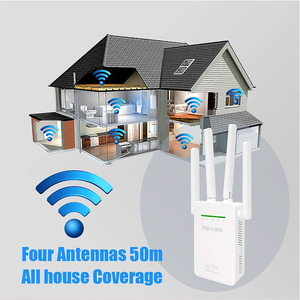 Image 2 - WR09 Repetidor De Sinal Wifi yönlendirici aralığı genişletici kablosuz Wifi tekrarlayıcı 300mbps ağ sinyal amplifikatör ile 4 antenler