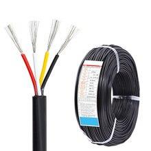 Colore nero morbido 4 fili guaina filo 24AWG cavo in rame stagnato privo di ossigeno lampada cavo dati fai da te segnale linea di ricarica