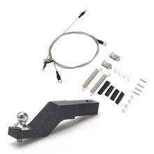 Rc voiture modifiée partie acier corde pour 1/10 Rc chenille Traxxas Trx-4 Trx4 Axial Scx10 D90 D110 & RC voiture métal remorque crochet Drop Hit