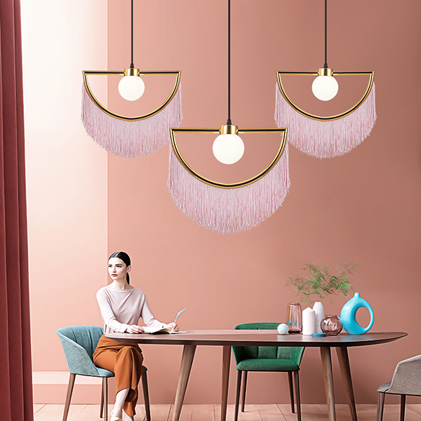Modern Led Pendant Lights Yellow/pink Color For Living Room Bedroom Home Lighting Fixtures Pendant Lamp WY01113