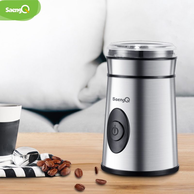 SaengQ 400W Kitchen Electric Coffee Grinder 220V Mini Salt Pepper Grinder Powerful Spice Nuts Seeds Coffee Bean Grind Machine