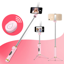 Mini Bluetooth Selfie Stick Foldable Tripod Mirror Remote Selfie Stick For IOS iPhone X 8 7 Plus Xiaomi Samsung Android