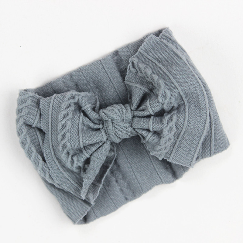 New Soft Nylon Knit Baby Heaband Cute Bow Elastic Haarband Baby Girl Headbands Baby Hair Accessories Newborn Hair Band 25 Colors