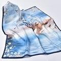 Hangzhou 100% lenço de seda natural para as mulheres impressão real lenço de seda lenço de seda quadrado pequeno lenço de seda 65x65cm scarfs pescoço
