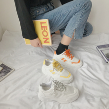 Купить с кэшбэком dad shoes 2019  trendy white whoes women platform shoes thick sole lace up sneakers for women chunkey ladies chaussures femme