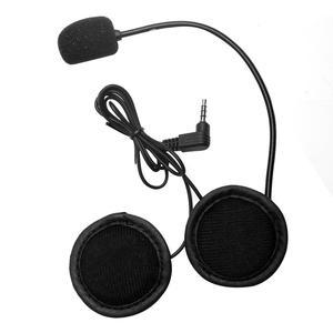 Fone de ouvido para capacete de moto, fone de ouvido com fio som estéreo, headset para capacete de motocicleta, para celular mp3