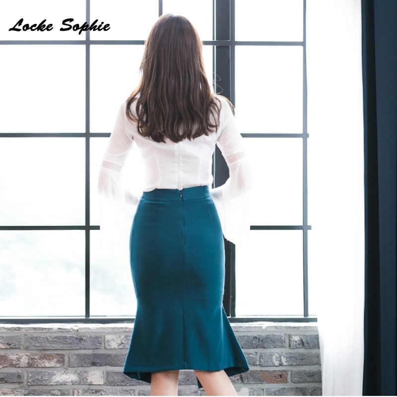 2 piezas, chándales para mujer, conjuntos twinset, tops y faldas, 2020 Otoño, algodón, encaje, empalme, conjunto de trajes Sexy con huecos, trajes de pista ajustados para mujer