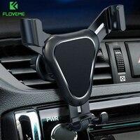 FLOVEME-Soporte de teléfono móvil para coche con cierre automático, Clip de montaje en rejilla de ventilación, rotación de 360 grados, para teléfono portátil
