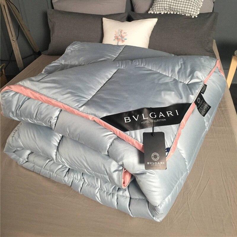 3 ~ 4 кг пуховое одеяло, пуховое одеяло, King queen, двойной размер, белое/серое/розовое/красное роскошное мягкое зимнее одеяло, одеяло, наполнитель - 3