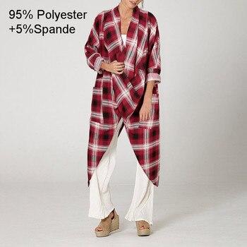 Plus Size Women Tops and Blouse 2021 Celmia Autumn Vintage Long Blouses Casual Cowl Neck Long Sleeve Asymmetric Party Blusas 5XL 11