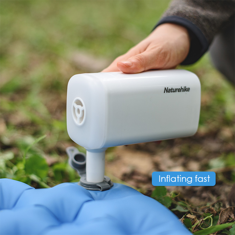 Naturehike Multifunctional Mini Air Pump 3-in-1 Power Bank Inflator LED Light Lamp Lighting USB Charging Inflator Pump Blow