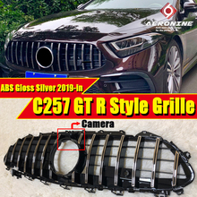 C257 GTS Style ABS Silver Front Grill Grille For MecedesMB CLS-class CLS300 CLS350 CLS450 CLS53 Without sign Look Grills 2019-in