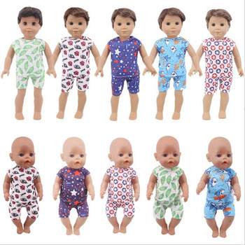 Fit 18 inch 40-43cm american doll clothes accessories casual two piece set of OG girls