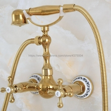 Mixer Tap Shower-Faucet-Set Hand-Shower-Head Wall-Mounted Bathroom Brass with Nna827
