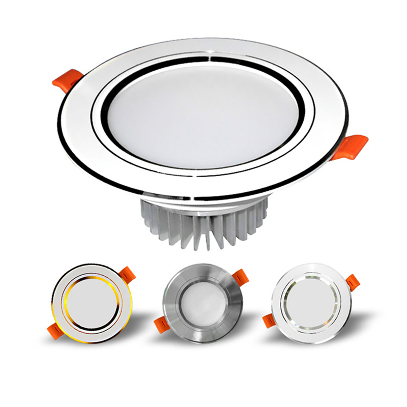 Ceiling Light Led Downlight Spotlight Background Front Spotlight 5/7/12/18W 2.5/3 Inch Thick Material Anti-fog And Pest Control