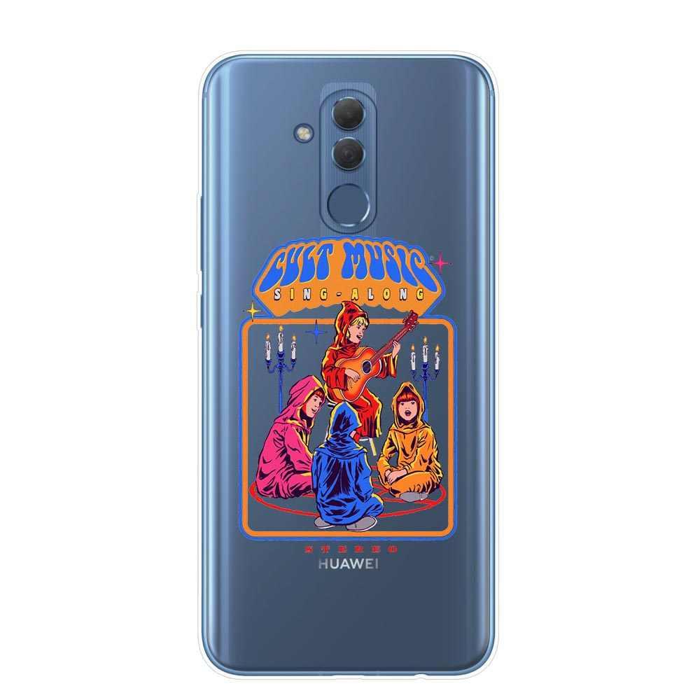 Dia das bruxas Diabo vamos Convocar Demônios Gráfico Do Vintage Silicone case Capa do telefone Para Huawei Companheiro P30 10 20 30 Lite pro Y9 2019 Capa