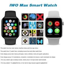 Reloj inteligente Iwo max llamada Bluetooth reloj inteligente 1: 1 correa de cambio impermeable 44mm banda inteligente resistente al agua para ios androi