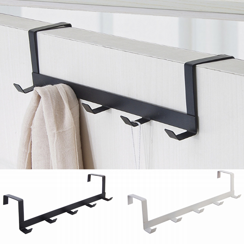 Practical Wrought Iron Door Hook Wall Hanger Hat Durable Kitchen 5 Hooks Bearing About 5kg Towel Hat Clothes Wall Hook Over Door