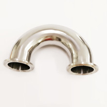 3'' 76mm Sanitary Stainless Steel Tri Clamp U Bend 180 Degree Elbow SS304 76mm 90 degree tight stainless exhaust mandrel bend tube pipe bend high quality 201 stainless steel
