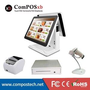 Бесплатная доставка Китай высокое качество 15 дюймов емкостный сенсорный экран pos терминал для кофейни pos pc
