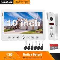 HomeFong Video Tür Telefon Wired Video Gegensprechanlage für Zu Hause 10 zoll Monitor Türklingel Kamera Unterstützung Bewegungserkennung Rekord/CCTV kamera