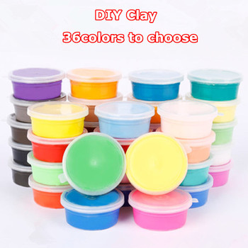 36 Color Slimes Soft Light Clay Children Educational DIY Toys Air Dry Safe Colored Clay Polymer Plasticine Kids Toy Gift