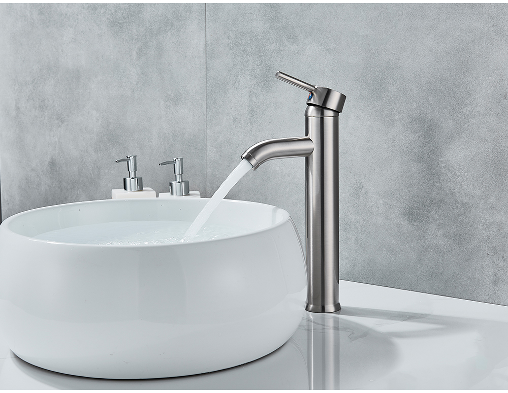 H82546095f5d741a7886b97441c44a4e4q POIQIHY Bathroom Basin Faucets Cold/Hot Mixer Basin Sink Tap Black Golden Water Kitchen Faucet Bathroom Vessel Sink Tap One Hole
