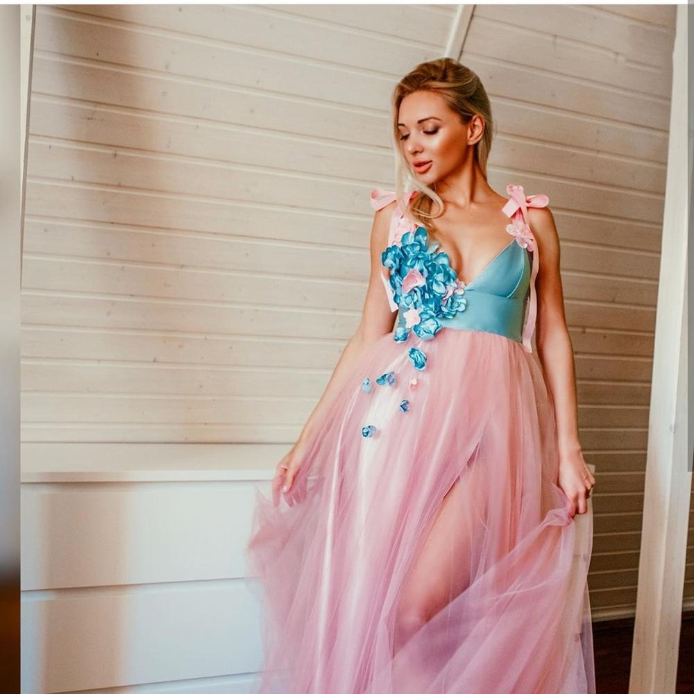 Pink  Evening Dress 2020 A-Line V-Neck Floor length Sleeveless Formal Women Party Gowns Side Slit Special Occasion Sexy Satin