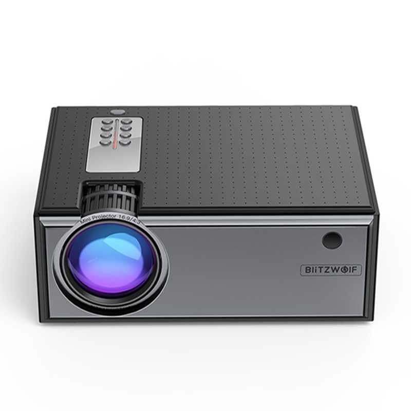 Blitzwolf-proyector LCD BW-VP1 para cine en casa, portátil, con 2800 lúmenes, compatible con entrada de 1080P, múltiples puertos, con Control remoto