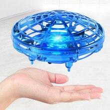 Mini drone RC UFO, hélicoptère à Induction à détection de main infrarouge, modèle quadcopte électrique Portable, jouets pour enfants