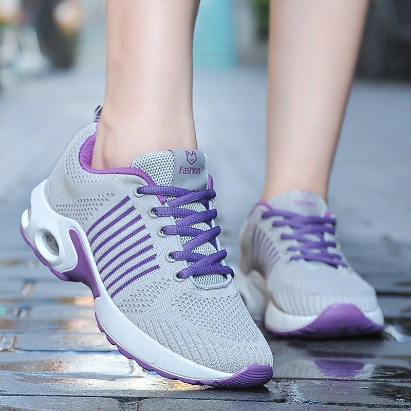 Dance Sneakers 2020 Outdoor Sport Air Mesh Breathable Summer Sneakers Air Cushion Wear-resistant Tenis Women Shoes