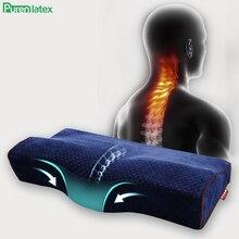 Purenlatex almohada ortopédica de espuma viscoelástica para adultos mayores, cojín de masaje para el contorno del cuello, para dormir, estudiante