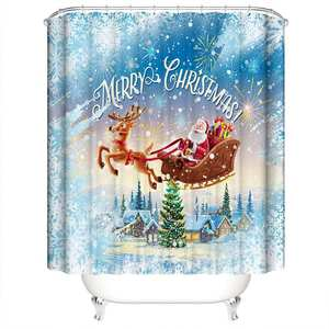 Curtain-Belt Polyester-Curtain Bathroom Elk And of with Winter Snow-Season Linked Elemental