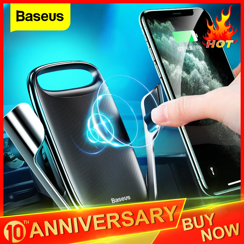 Baseus 15W Qi Wireless Car Charger For IPhone 11 Fast Car Wireless Charging Holder For Samsung S20 Xiaomi Mi 9 Induction Charger