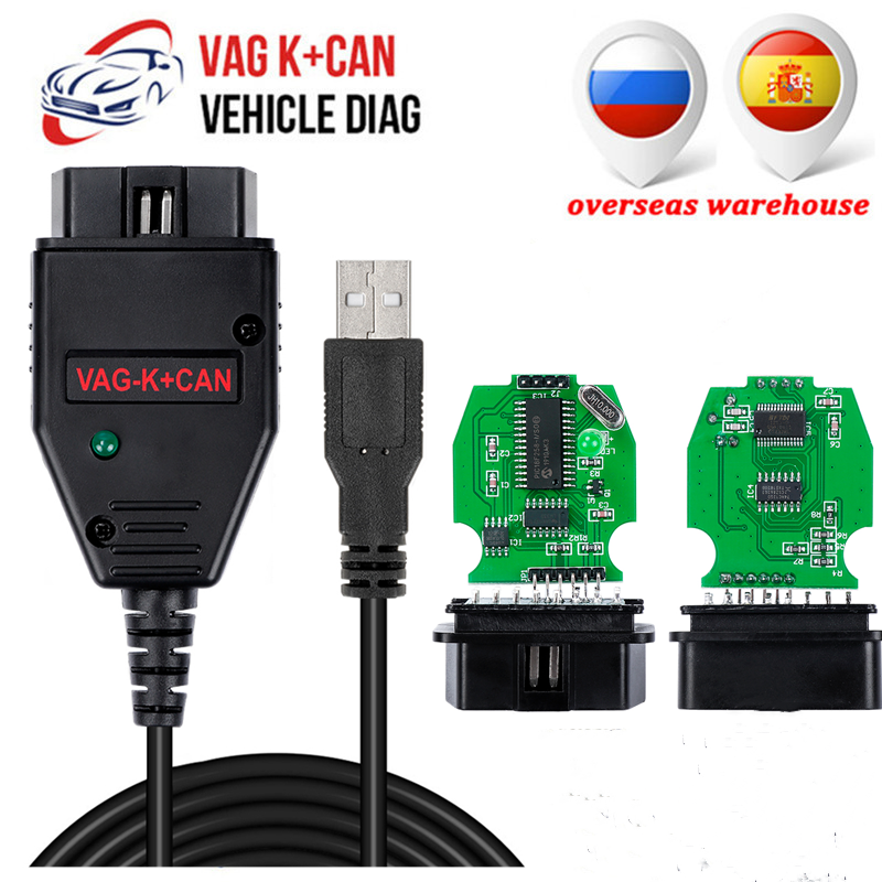 OBD2 Car Diagnostic Cable For VAG K+CAN Commander 1.4 With FTDI FT232RL PIC18F25K80 OBD2 Scanner For VW/Audi/Skoda VAG Commander