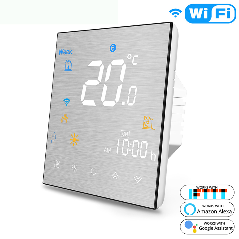 Smart WiFi Thermostat Temperature Controller For Water/Electric Floor Heating Water/Gas Boiler Works Alexa Google Home IFTTT